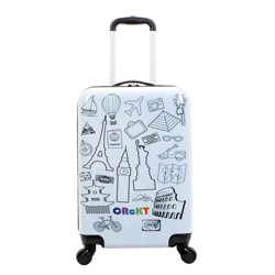 "Crckt 20"" Kids' Hardside Carry On Spinner Suitcase"
