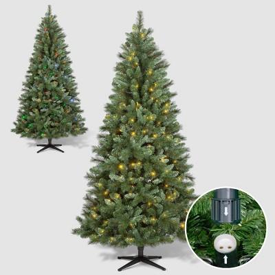 Philips 7ft Pre-lit Artificial Christmas Tree Douglas Fir Auto Connect Bi-color LED Lights