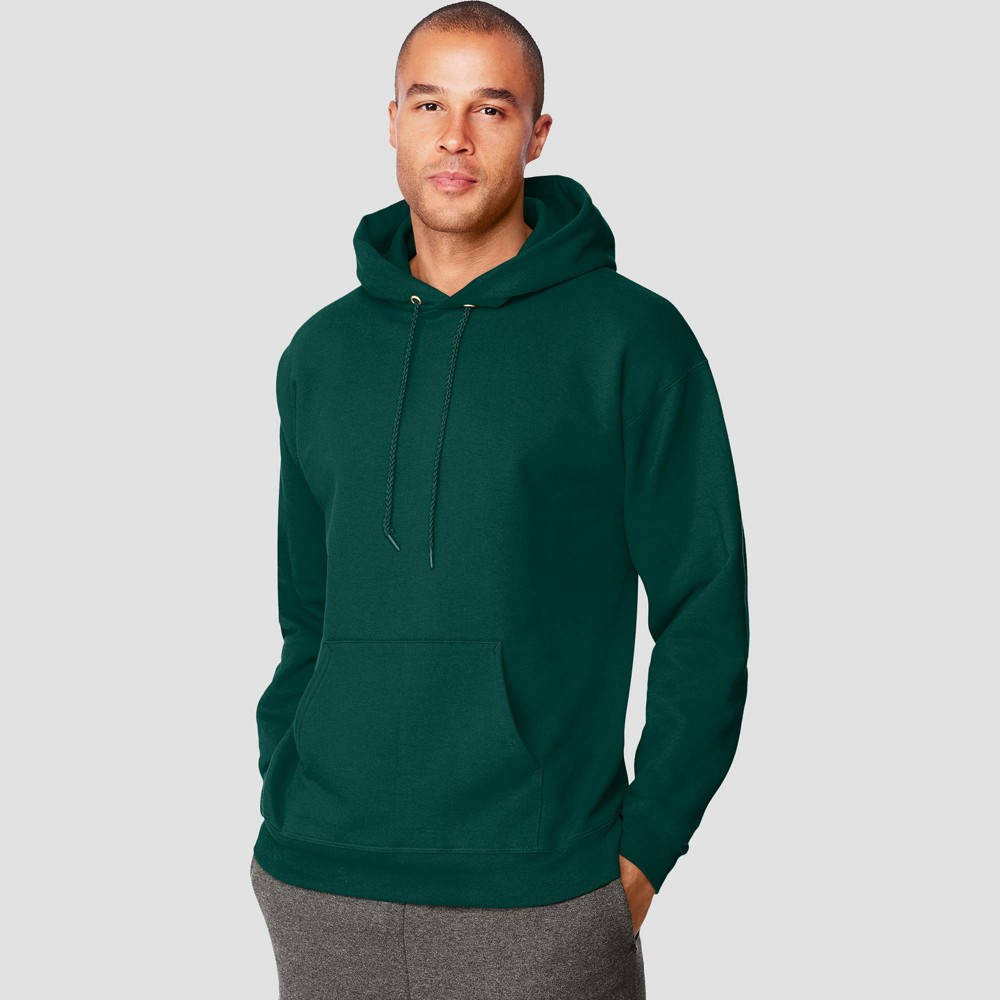 Hanes Men S Ultimate Cotton Pullover Hooded Sweatshirt Forest M
