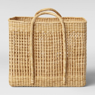 "Open Weave Square Basket 20"" x 16.9"" Natural - Threshold™ designed with Studio McGee"