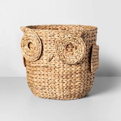 17  x 13.4  Water Hyacinth Owl Basket Natural - Opalhouse™