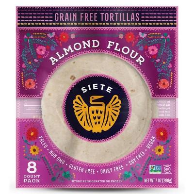 Siete Frozen Almond Flour Tortilla - 7oz/8ct