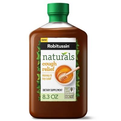 Robitussin Naturals Cough Relief Honey & Ivy Leaf Syrup - 8.3 fl oz