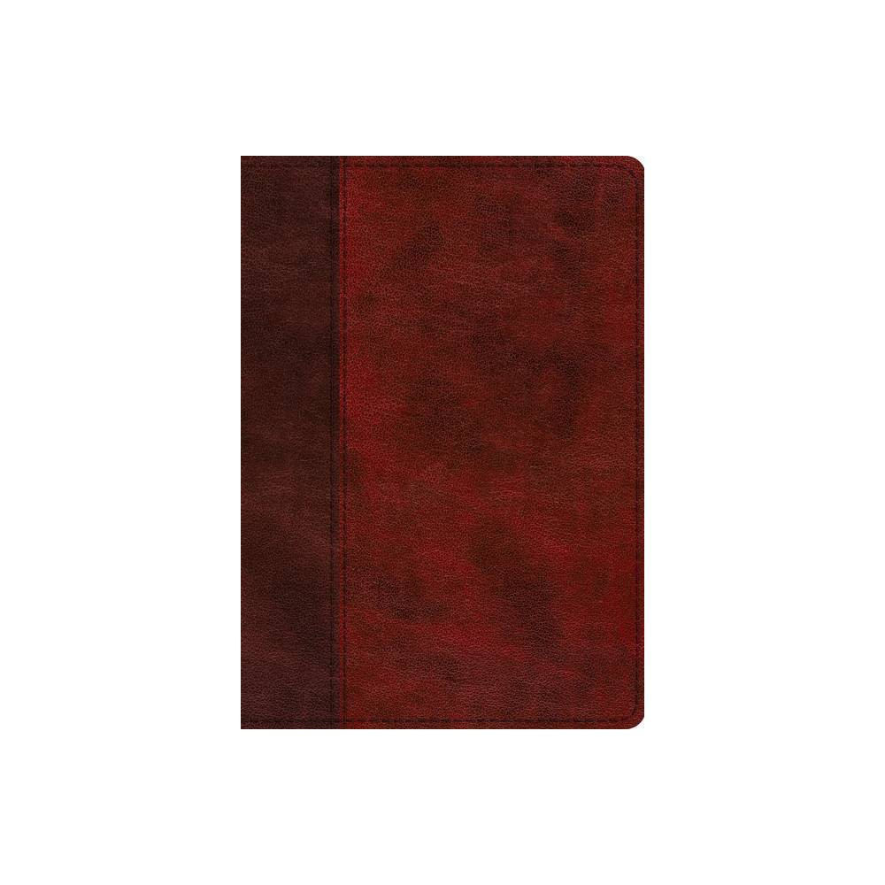 Esv Single Column Journaling Bible Large Print Trutone Burgundy Red Timeless Design Leather Bound