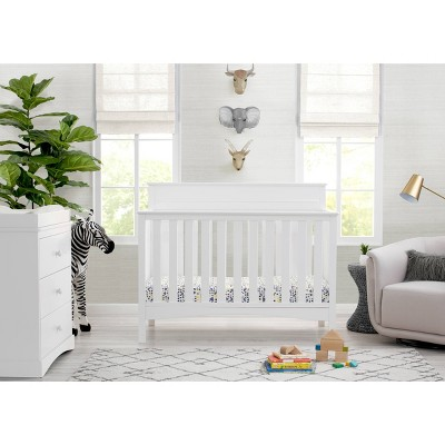 Delta Children Skylar 4-in-1 Convertible Crib - Bianca White