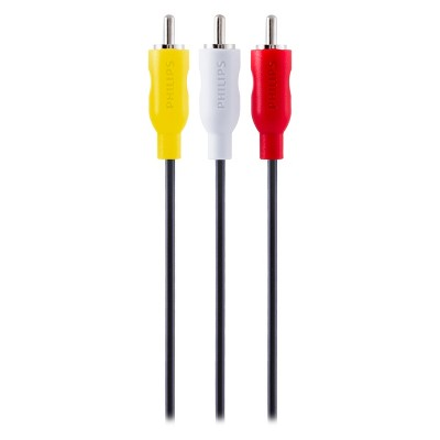 Philips 6' Composite Audio/Video Cable - Yellow/White/Red