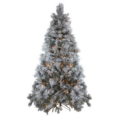 Northlight 7.5' Prelit Artificial Christmas Tree LED Black Spruce - Clear Lights