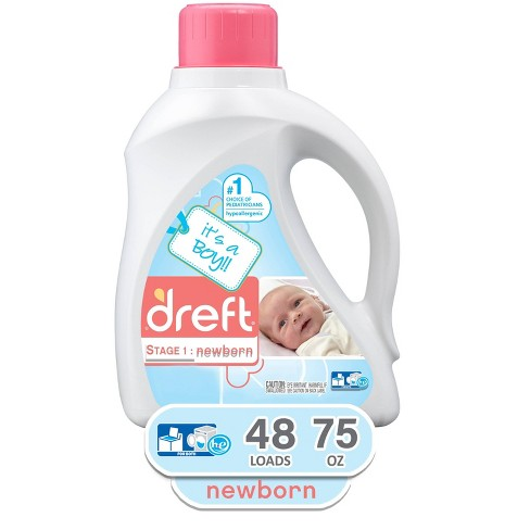 Dreft Stage 1: Newborn Liquid Laundry Detergent (HEC) - It's a Boy/Girl! 75oz/48 loads - image 1 of 2