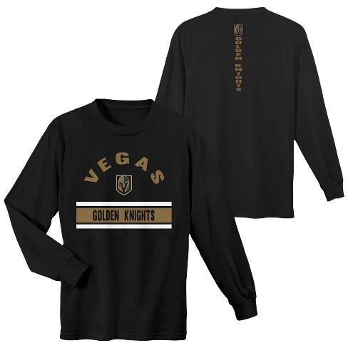NHL Vegas Golden Knights Boys' Warming House Long Sleeve T-Shirt - image 1 of 3