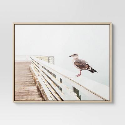 "24"" x 30"" Seagull Framed Wall Art - Threshold™"