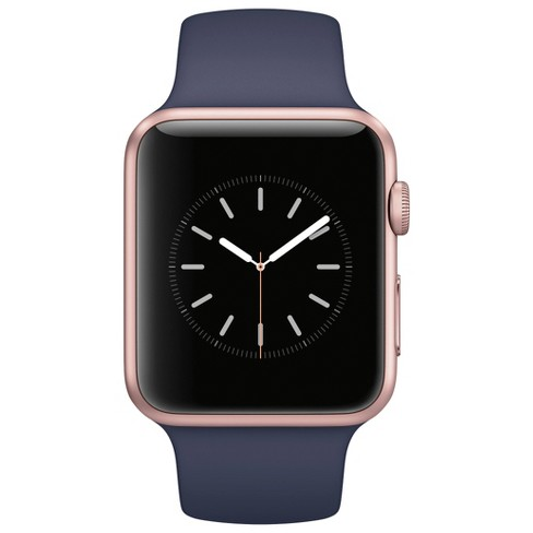 Apple Watch Series 1 42mm Rose Gold Aluminum Case With Midnight Blue