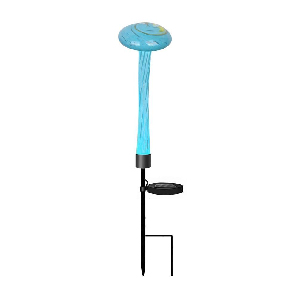 "Image of ""4"""" LED Solar Mushroom Garden Stake Turquoise - Peaktop"""
