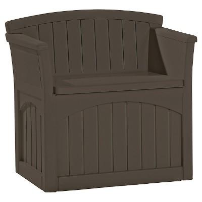 Resin Storage Patio Seat 31 Gallon Java - Brown - Suncast