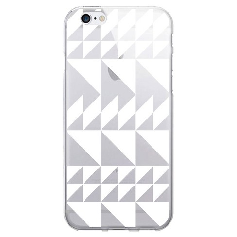 iPhone 7/6s/6 OTM Prints Clear Phone Case Triangle Quilt Black & White - OTM Essentials® - image 1 of 1