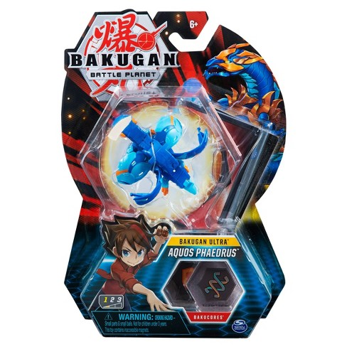"""Bakugan Ultra Aquos Phaedrus 3"""" Collectible Action Figure and Trading Card - image 1 of 4"""