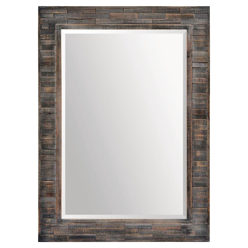 Rectangle Liuhana Decorative Wall Mirror Charcoal (Grey) - Ren-Wil