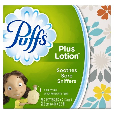 Puffs Plus Lotion White Cube Facial Tissues - 56ct