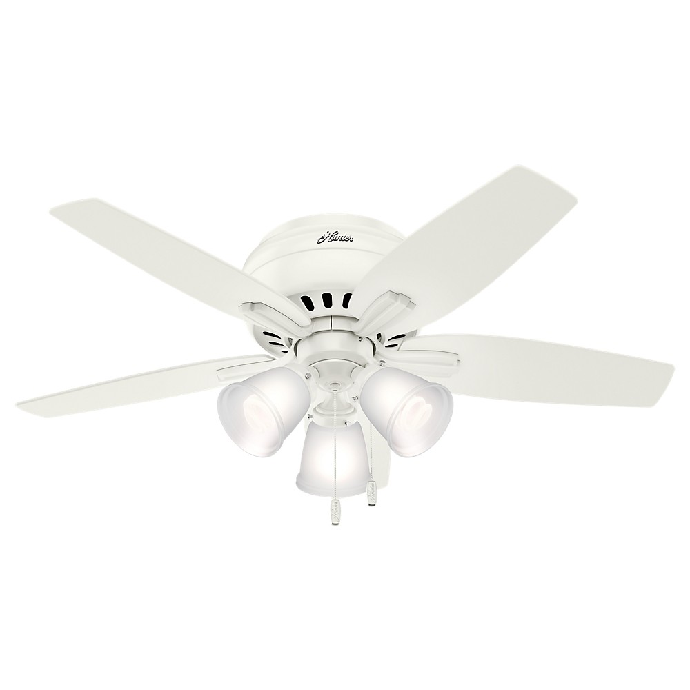 42 Low Profile Lighted Ceiling Fan Fresh White - Hunter Fan