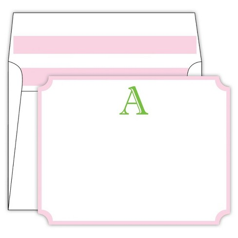 RosanneBECK Collections White Die-Cut Social Set Cabana Stripe Monogram - image 1 of 1