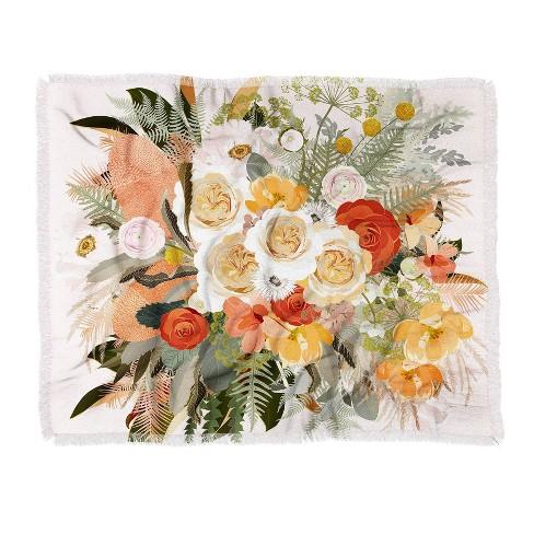 Iveta Abolina Damaris Morning Woven Throw Blanket Pink - Deny Designs - image 1 of 2