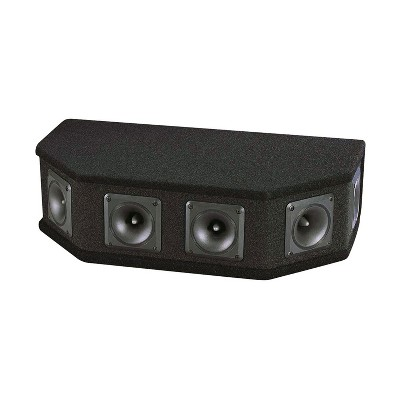 Pyle PAHT6 300 Watt Peak Performance 6 Way DJ Live Tweeter Speaker Sound System Box w/ 6 2.5 Inch Horn Piezo Tweeters & MDF Carpeted Enclosure, Black