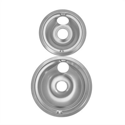 GE Hotpoint Drip Bowls 2-pk. - Chrome