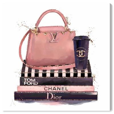 "12"" x 12"" Treasured Handbag Fashion and Glam Unframed Canvas Wall Art in Pink - Oliver Gal"