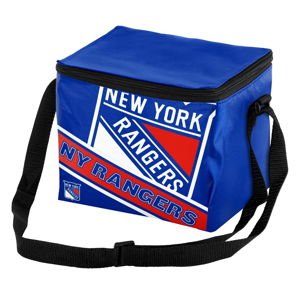 Forever Collectibles New York Rangers Logo Stripe 6pk Cooler