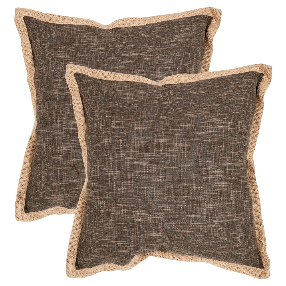 Brown Madeline Throw Pillow Set Of 2 (22
