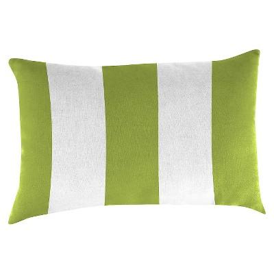 Outdoor Throw Pillow Set Jordan Manufacturing Cabana Green White