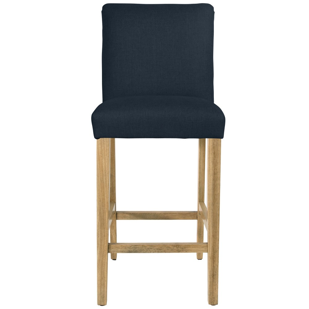 Parsons Barstool Navy Linen with Natural Legs - Threshold Promos