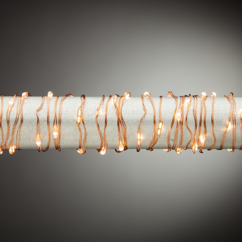 60ct Multifunction Micro LED Warm White Light String - Copper Wire - image 1 of 2