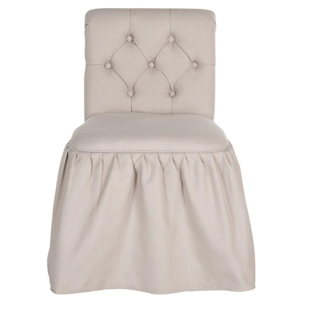 Allie Vanity Chair - Taupe (Brown) - Safavieh