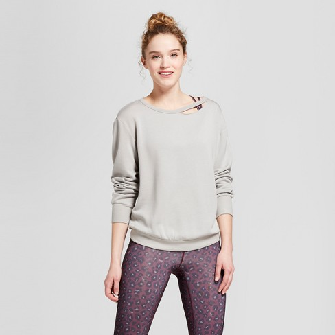 Women's Cozy Ripped Sweatshirt - JoyLab™ - image 1 of 2