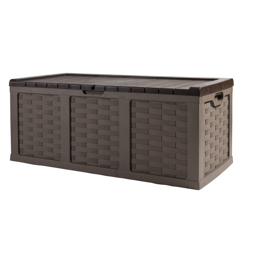 "Image of ""153 gallon Deck Box 29.5"""" H - Brown - Starplast"""