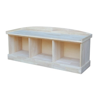 Storage Bench Unfinished - International Concepts