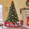 9ft Mixed Spruce Pre-Lit Hinged Full Artificial Christmas Tree with Glitter Branches Clear Lights - Christopher Knight Home - image 3 of 4