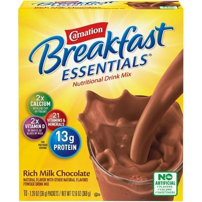 Carnation Breakfast Essentials Powder Drink Mix Rich Milk Chocolate - 10ct/12.6oz