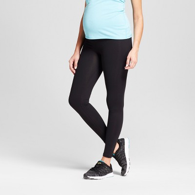 Maternity Crossover Panel® Active Leggings - Isabel Maternity™ by Ingrid & Isabel® Black L