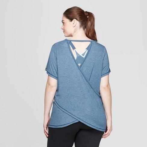 8b5452194a646 Women s Plus Size Short Sleeve Draped T-Shirt - C9 Champion®   Target