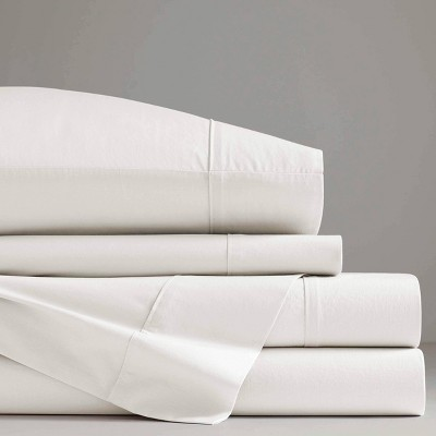 Queen Otto Solid Percale Cotton Sheet Set White - Now House by Jonathan Adler