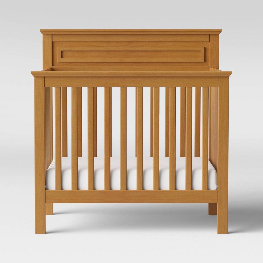 Image of DaVinci Autumn 4-in-1 Mini Crib And Twin Bed - Chestnut, Brown