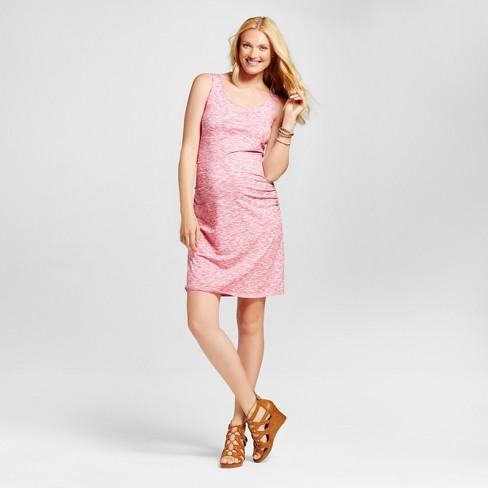 51fed736fd344 Maternity Spacedye Tank Dress Rose Scenario/Cream - L - Liz Lange® for  Target