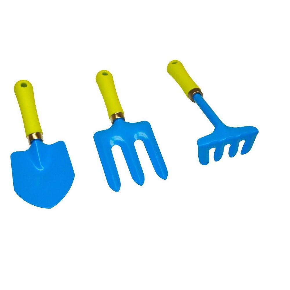 Kids Garden Tools Set - Blue - Justforkids, Multi-Colored