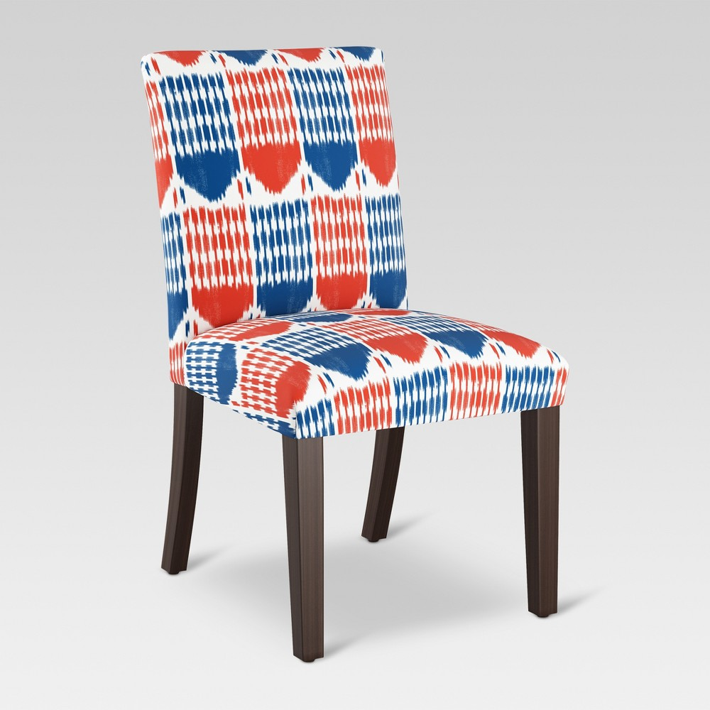 Parsons Dining Chair Ikat Blue/Red - Threshold