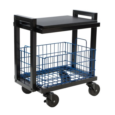 Cart System with wheels 2 Tier Black - Atlantic