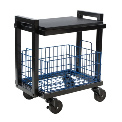 Cart System With Wheels 2 Tier Black Urb E