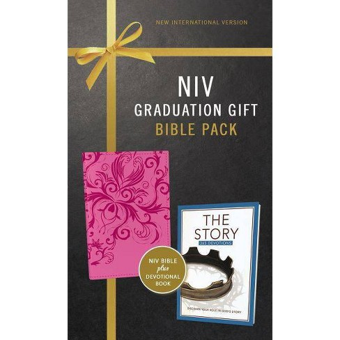NIV, Graduation Gift, Bible Pack for Her, Pink, Red Letter Edition - by  Zondervan (Mixed media product) - image 1 of 1