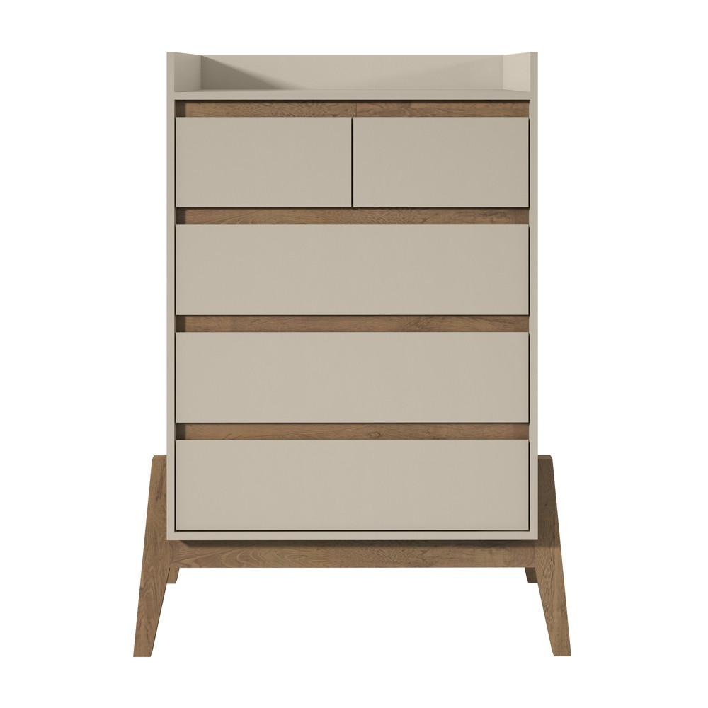 48.23 Essence Tall Dresser Off-White (Beige) - Manhattan Comfort