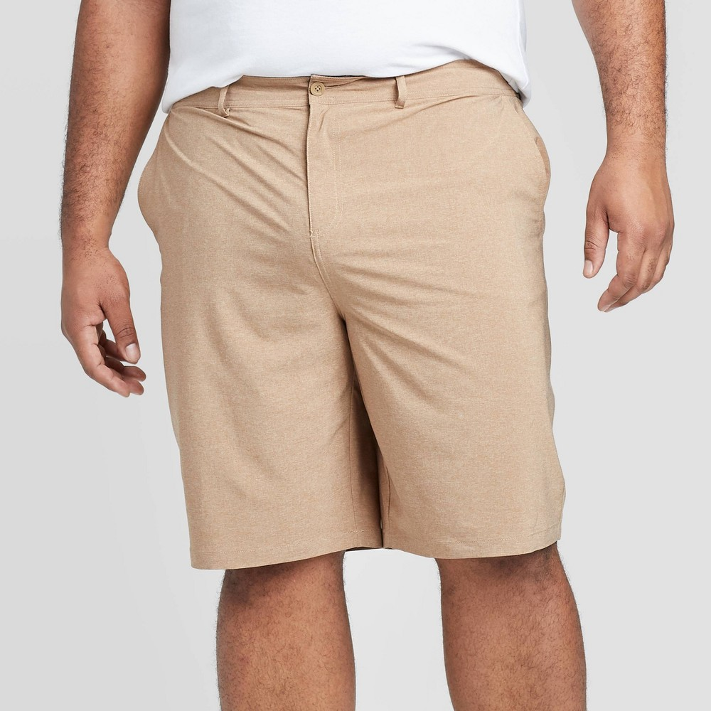 Men 39 S Big 38 Tall 10 5 34 Rotary Hybrid Shorts Goodfellow 38 Co 8482 Toasted Almond 42